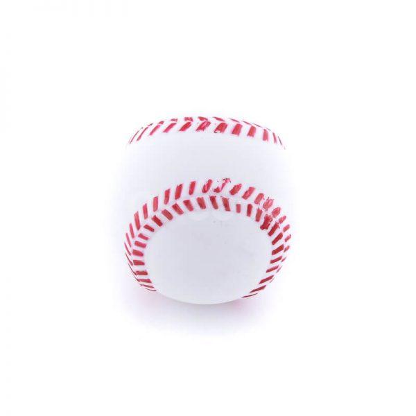 Zábavná hračka pre psa lopta baseball bielej farby