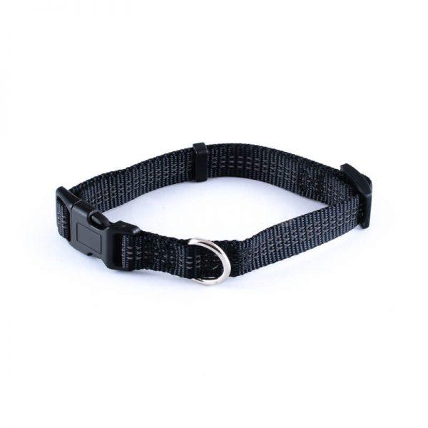 Praktický reflexný obojok pre psa imitácia nylonu čiernej farby