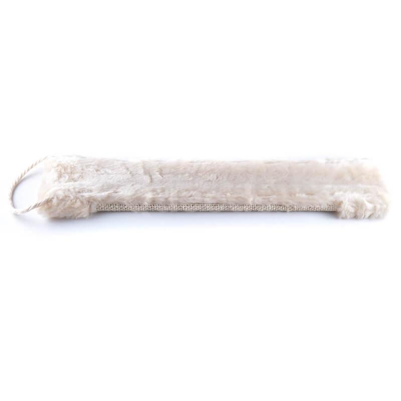 Elegantná škrabacia doska na stenu tkanina plyš béžová