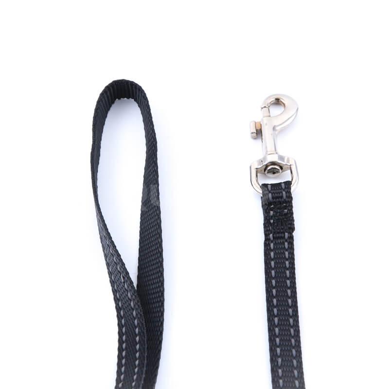Odolná vôdzka pre psa imitácia nylonu čierna