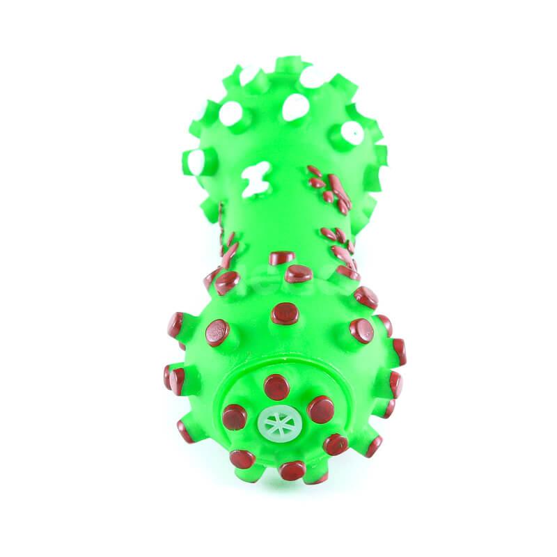 Odolná psia hračka kosť pichliače menšia zelená