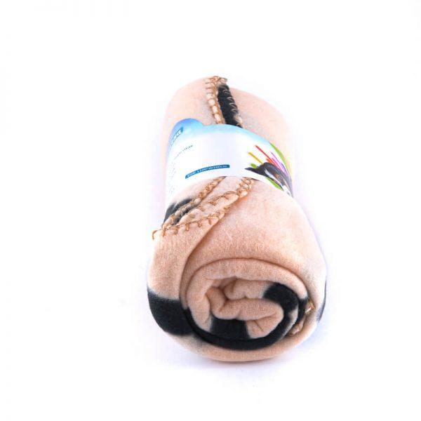 Pohodlná deka pre psa kosť béžovej farby