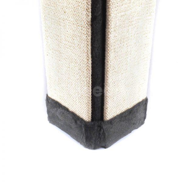 Vkusné čierne škrabadlo na stenu rohové tkanina väčšie