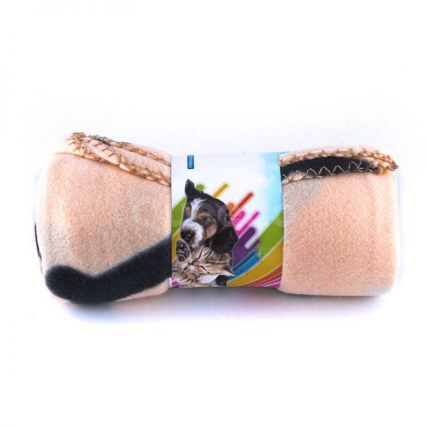 Príjemná deka pre mačku kosť béžová