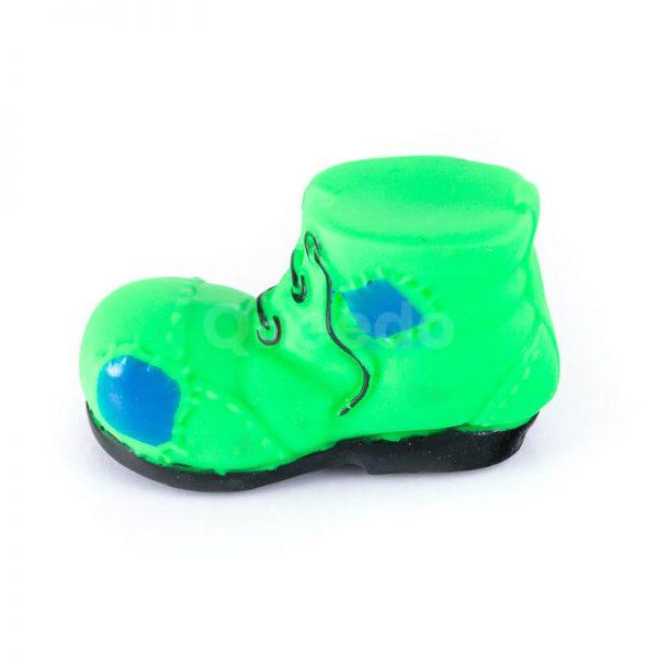 Vkusná a odolná gumená hračka pre psa topánka menšia zelená