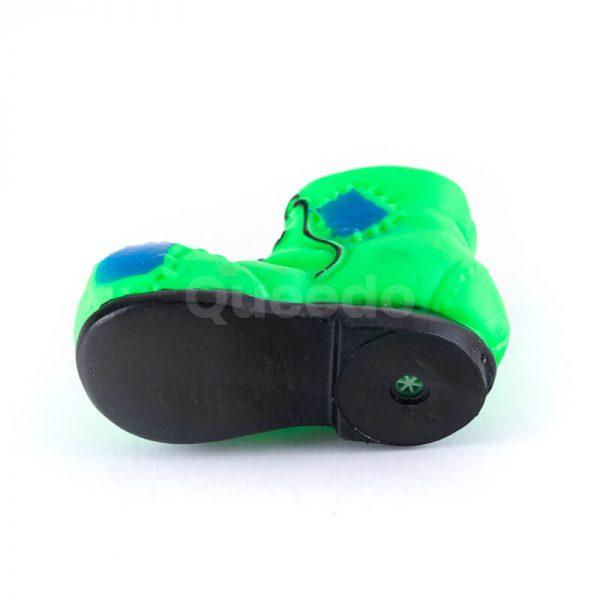 Moderná hračka pre psa menšia topánka zelená