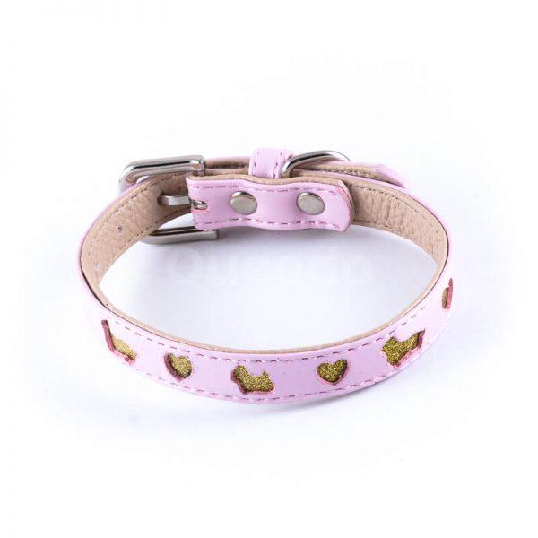 Estetický obojok pre mačky výrez ružový