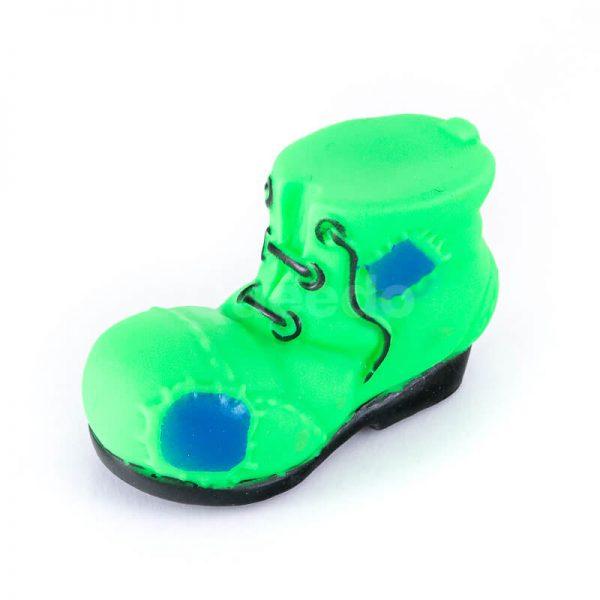 Zábavná psia hračka topánka menšia zelená