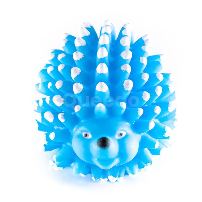 Praktická hračka pre psa ježko pichliače modrá