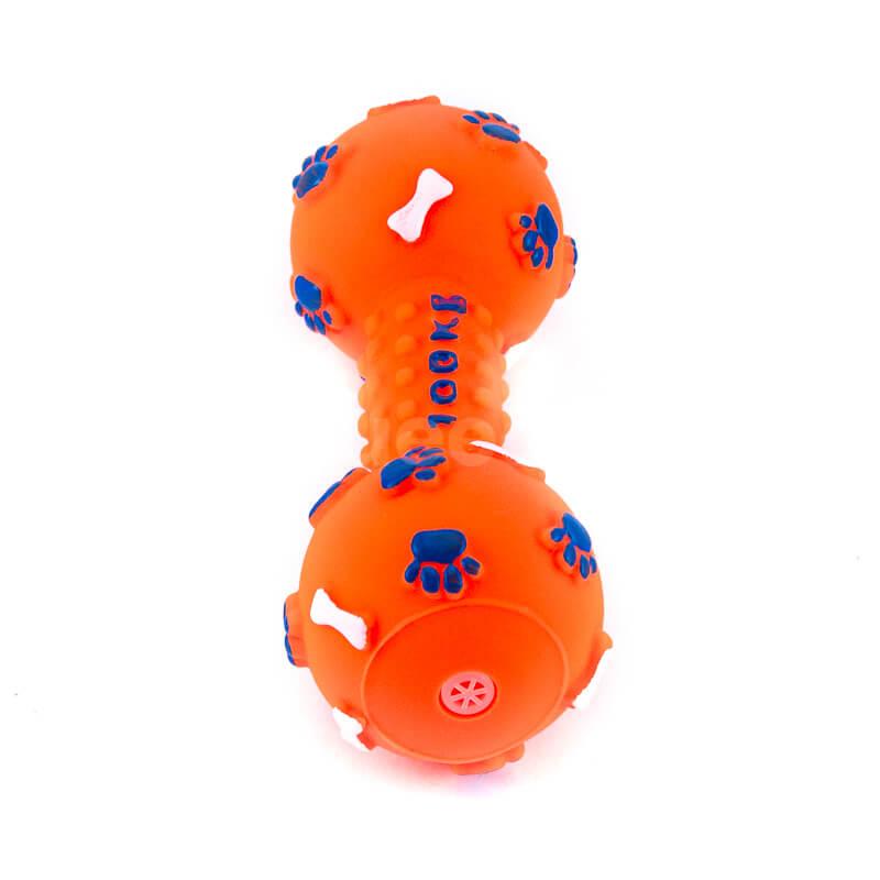 Zábavné hračky pre psov kosť pichliače oranžové