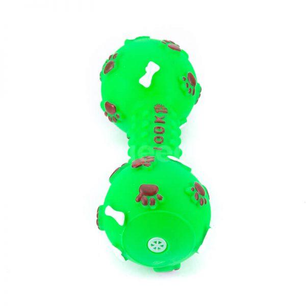 Praktické hračky pre psov kosť pichliače zelené