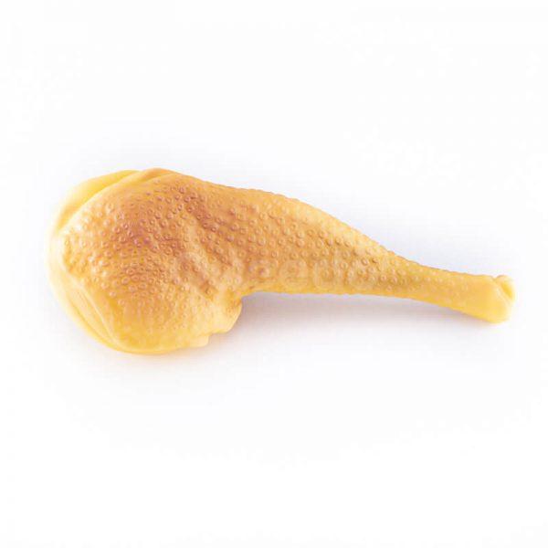 Zábavná gumená hračka pre psa stehno žlté