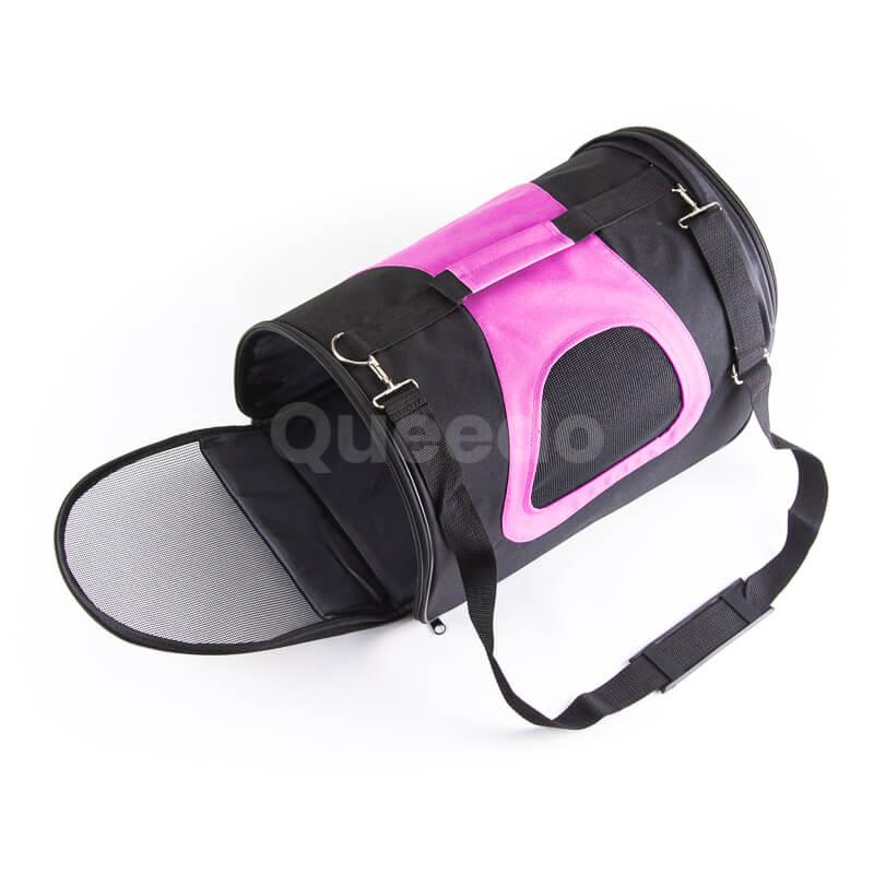 Odolná kabelka pre psa čierno ružová