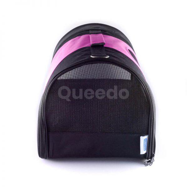 Krásna prenosná taška pre psa čierno ružová