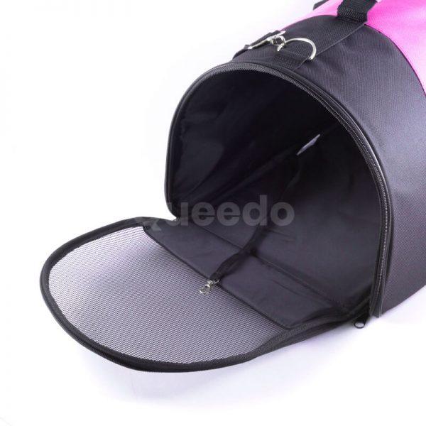 Pevná taška na psa čierno ružová