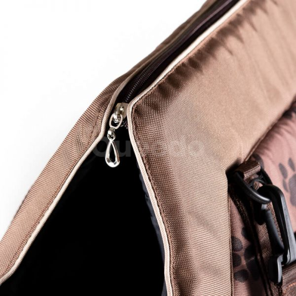 Elegantná kabelka pre psa labky svetlohnedá