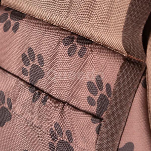 Nádherná prenosná taška pre mačku labky svetlohnedá Queedo