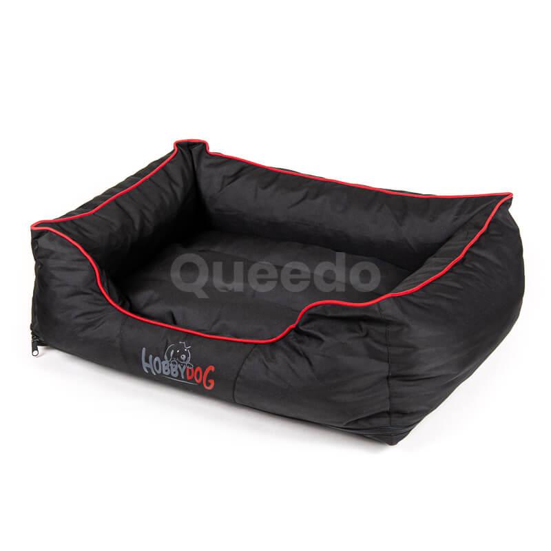 Moderné pelechy pre mačky Comfort červené lemo čierne