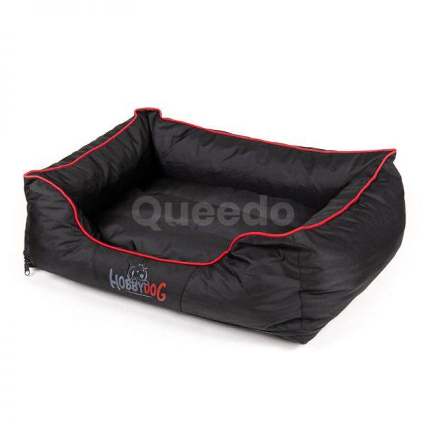 Moderné pelechy pre psov Comfort červené lemo čierne