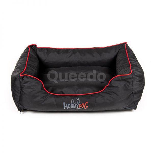 Praktické psie pelechy Comfort červené lemo čierne