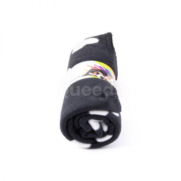 Kvalitná deka pre mačku kosť čierna Queedo