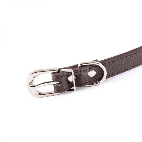 Kvalitný a pohodlný kožený obojok pre psa Classic hnedý