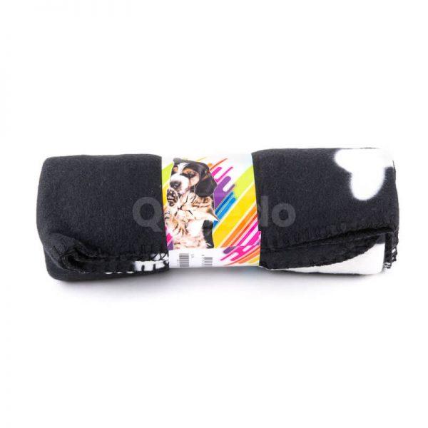 Pohodlná deka pre mačku kosť čierna