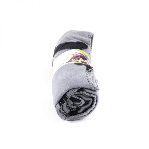 Krásna a pohodlná deka pre mačku kosť sivá