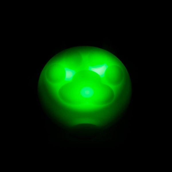 Odolný svietiaci prívesok pre mačku v tme zelený Queedo