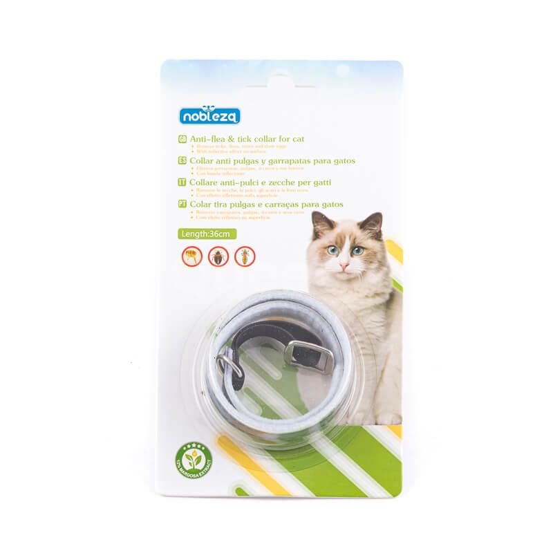 Antiparazitný obojok pre mačky šedý