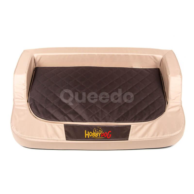 Béžovo-hnedý ortopedický matrac pre psa Medico Queedo