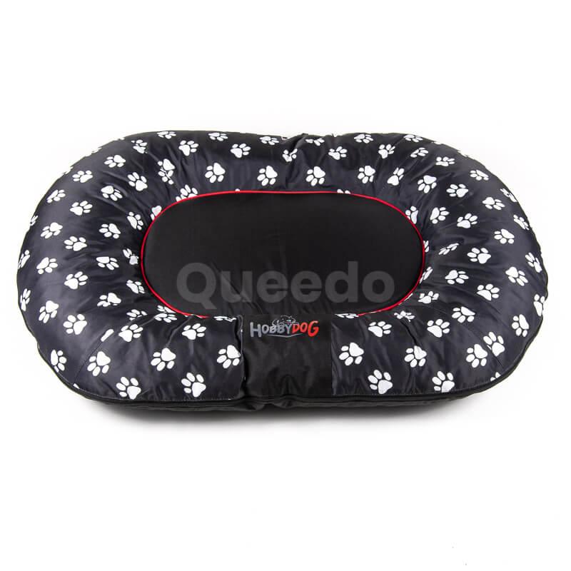Čierny vankúš pre psa labky Prestige Queedo