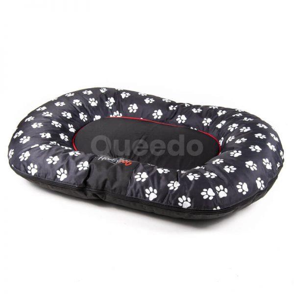 Čierny vankúš pre psa Prestige labky Queedo