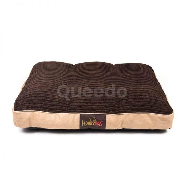 Corduroy matrac pre psa hnedý Queedo