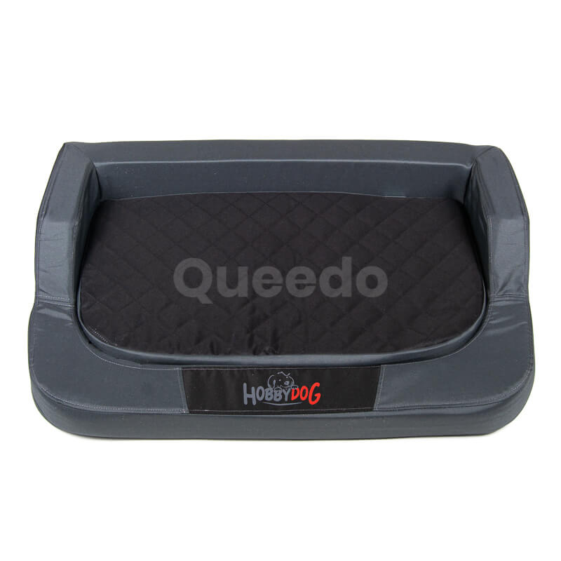 Grafitovo-čierny ortopedický matrac pre psa Medico Queedo
