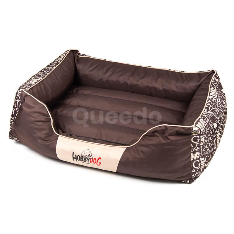 Hnedý pelech pre psa Prestige nápisy Queedo
