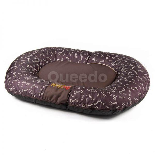 Hnedý vankúš pre psa Prestige kostičky Queedo