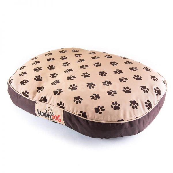 Matrac pre mačku oválny béžový labky Queedo
