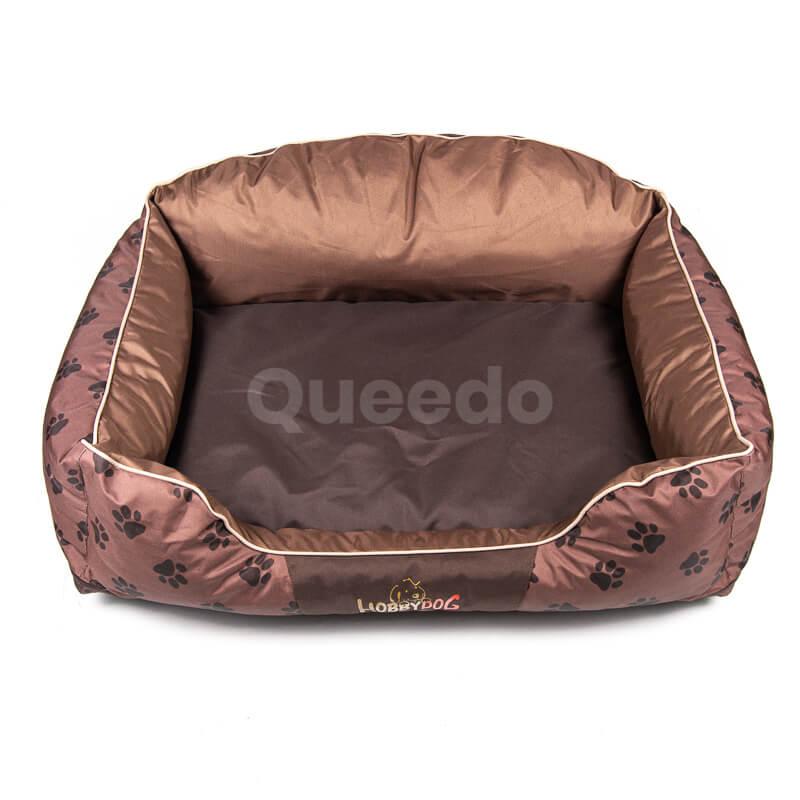 Svetlohnedý pelech pre psa Royal labky Queedo