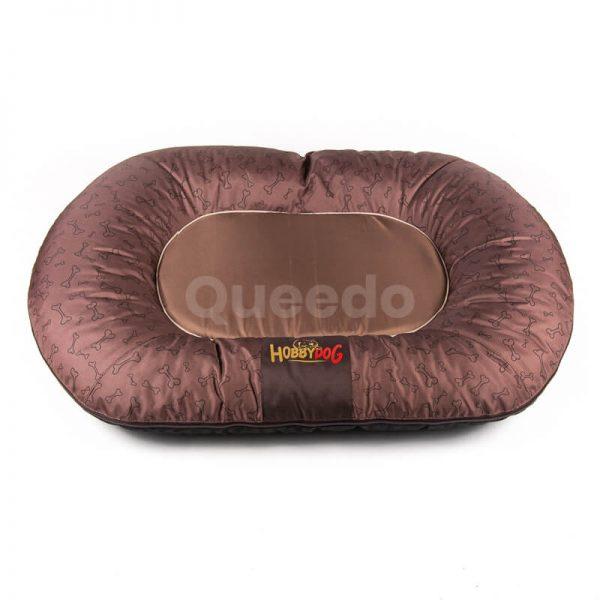 Svetlohnedý vankúš pre psa kostičky Prestige Queedo