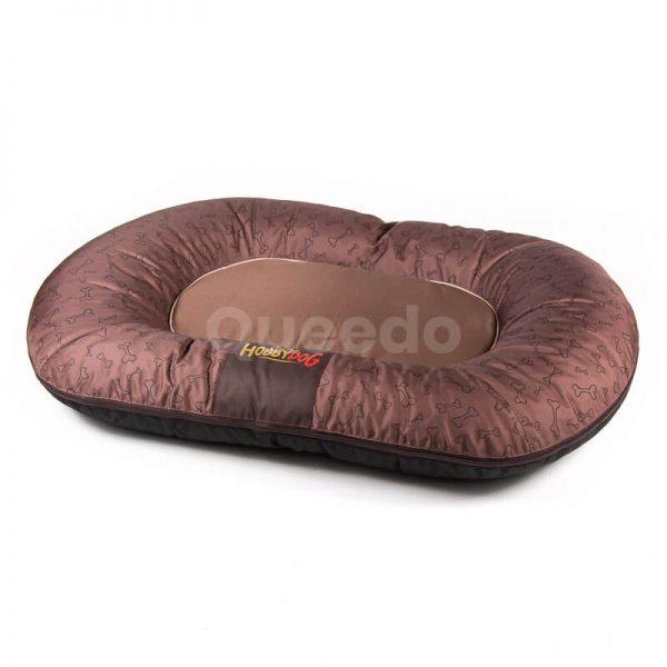 Svetlohnedý vankúš pre psa Prestige kostičky Queedo