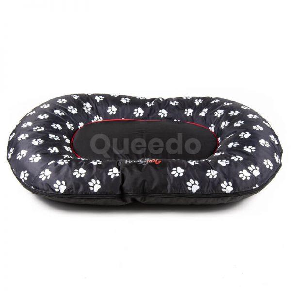 Vankúš pre psa Prestige čierny labky Queedo
