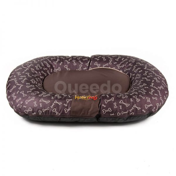 Vankúš pre psa Prestige hnedý kostičky Queedo