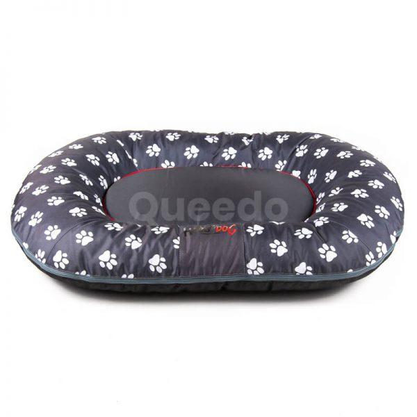 Vankúš pre psa Prestige šedý labky Queedo