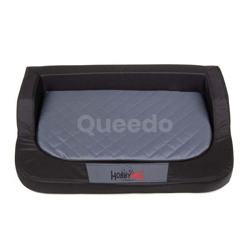Moderný ortopedický pelech pre psa Medico čierno šedý Queedo